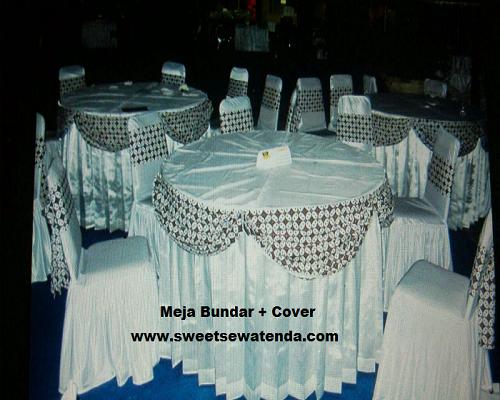 Meja Bulat + Cover